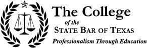 Logo Recognizing Todd Law Firm's affiliation with The College of hte State Bar of Texas