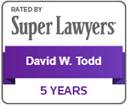 Logo Recognizing Todd Law Firm's affiliation with Super Lawyers